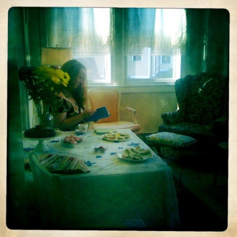 A Feminist Tea Party, Governors Island, Suzanne Stroebe, Caitlin Rueter